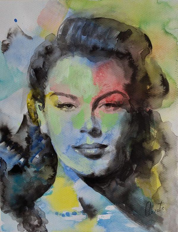 Ava Gardner portrait | expressionism